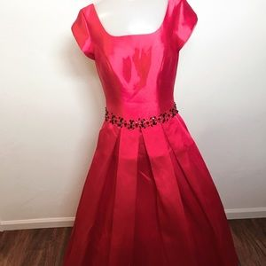 Dresses & Skirts - Red belted gown